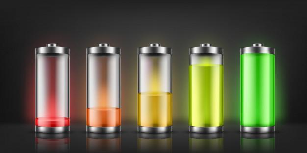 Batteries rechargées pleines d'énergie