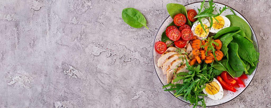répartition des alimentas dans l'assiette du sportif